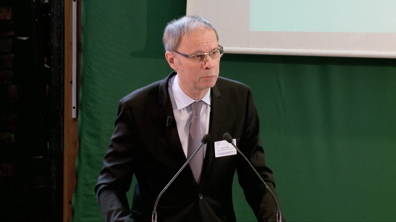 Click here to view Jean Tirole's laureate remarks